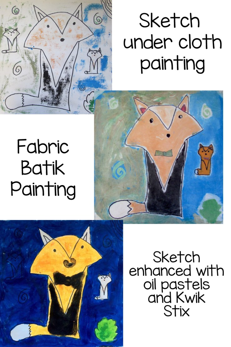 Toothpaste and Batik Painting on Fabric