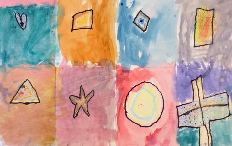 Watercolor Shapes for Kindergarten