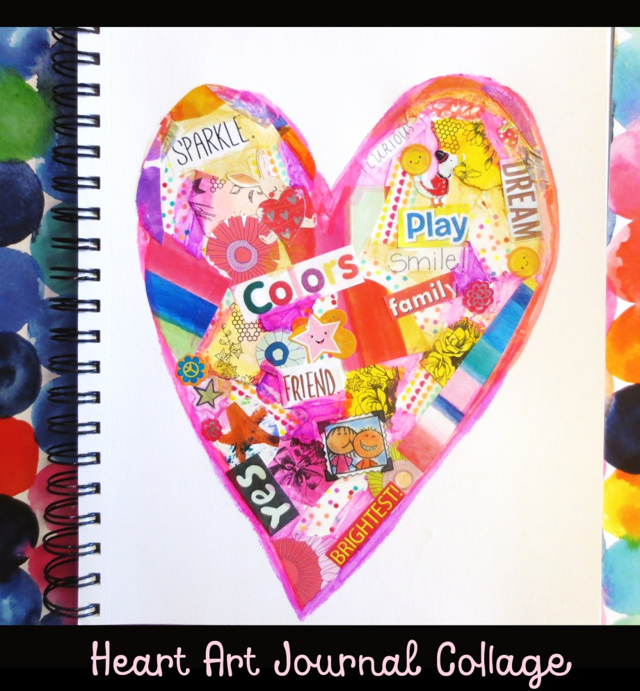 Mixed Media Heart Collage Art Is Basic An Elementary