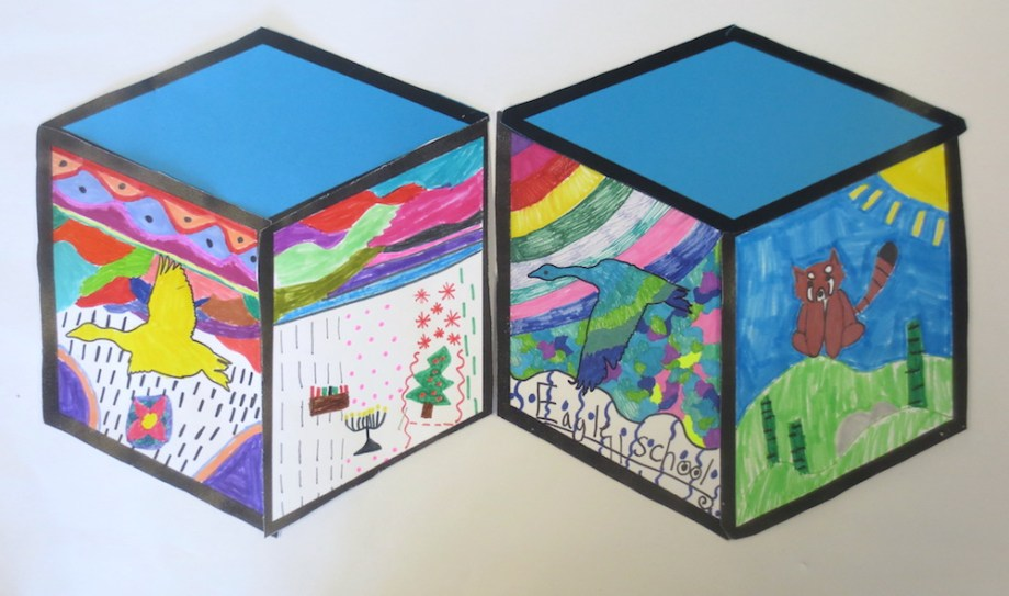 cube mural inspired by street artist thank youx � art is