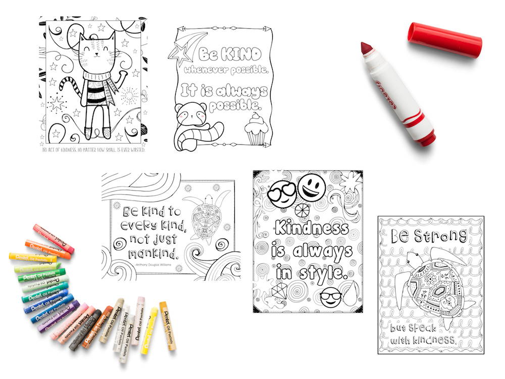 Kindness Coloring Pages: Free Sample Page! – Art Is Basic An Elementary  Art Blog