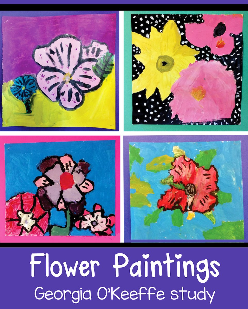 Georgia O'Keeffe and Flower Paintings for Kids