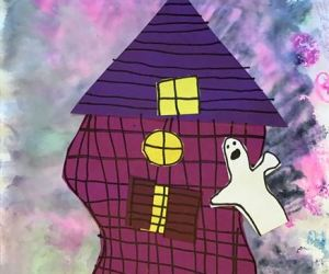 Spooky Haunted House Art Project for Kids