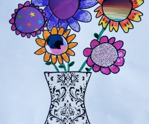 Spring Vase of Flowers Art Project