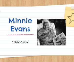 Minnie Evans Art Project for Kids