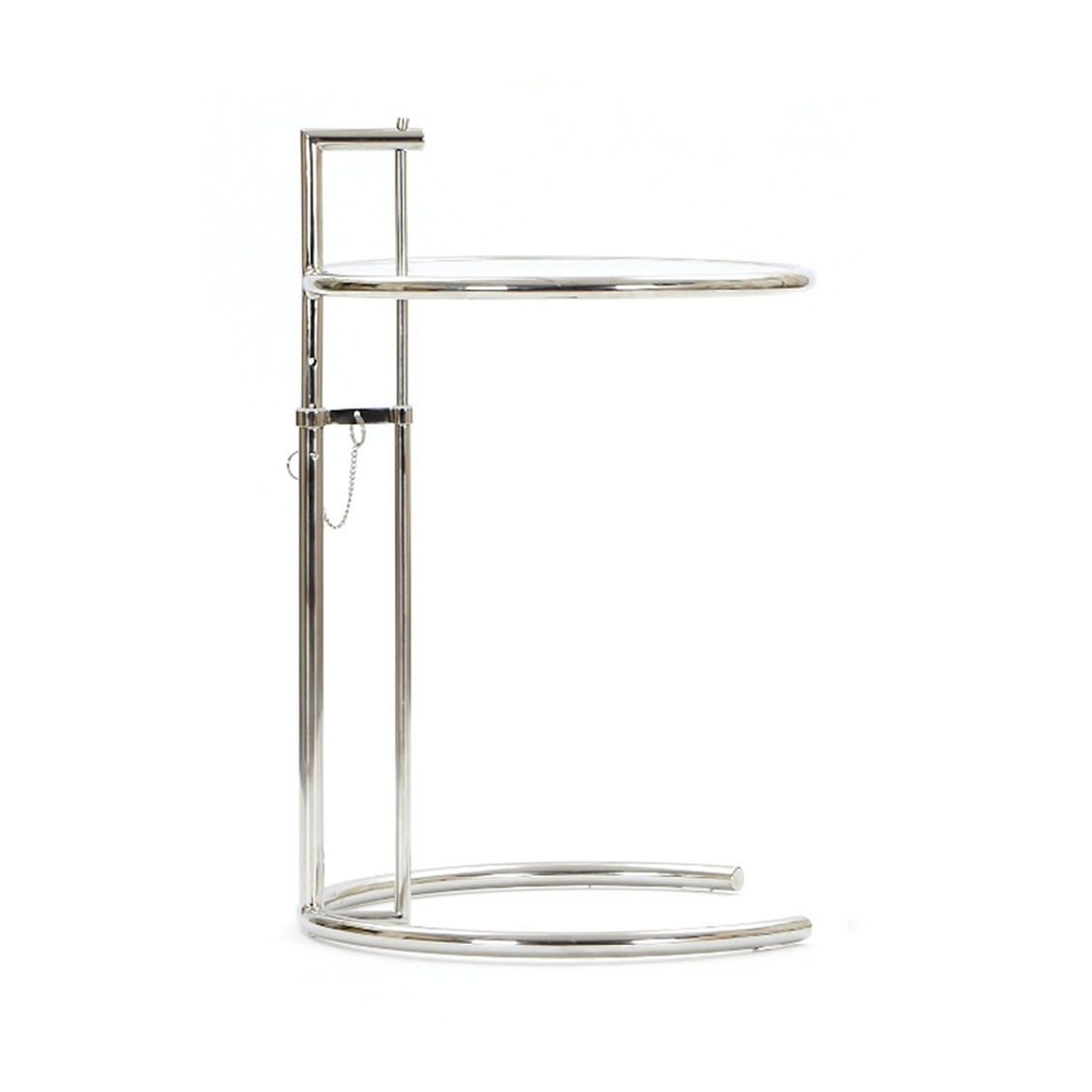 Eileen Gray Style Adjustable Glass Table E Stainless