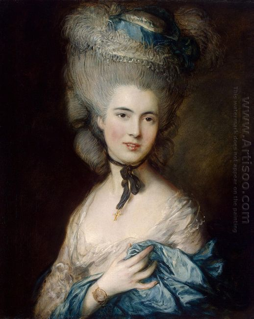 Rococo Oil Painting   Oil Painting Blog A Woman in Blue