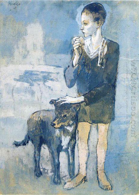 Boy With A Dog 1905