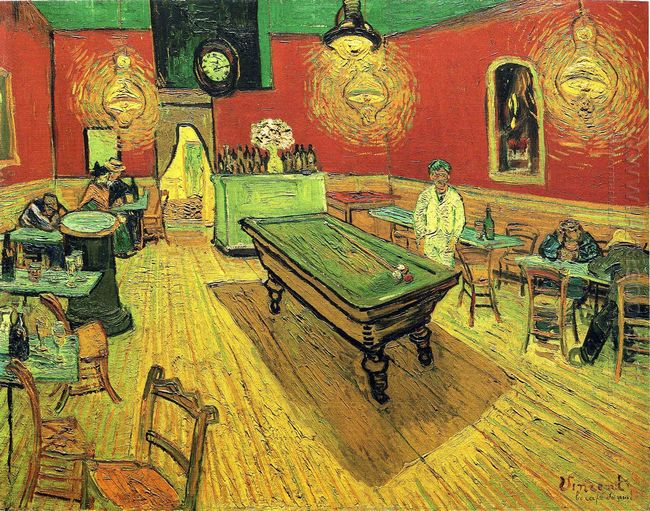 The Night Cafe by Vincent Van Gogh, wall art for sale, oil paintings