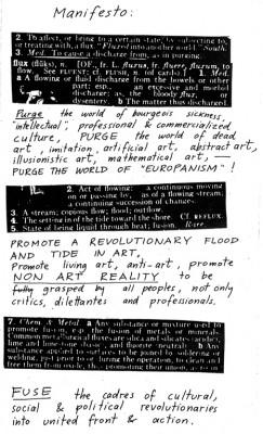Maciunas, Fluxus manifesto