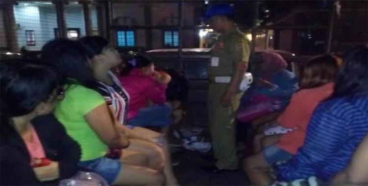 Belasan PSK Semarang Terjaring Razia OLeh Satpol PP