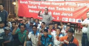 Ahok - Djarot Dapat Dukungan Dari Buruh Tanjung Priok untuk memimpin kota jakarta