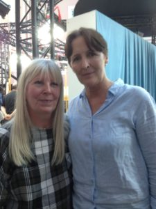 Fiona Shaw with Sarah Hope at Sky Portrait Artist of the Year