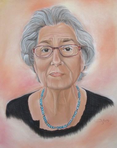 portrait aux pastels