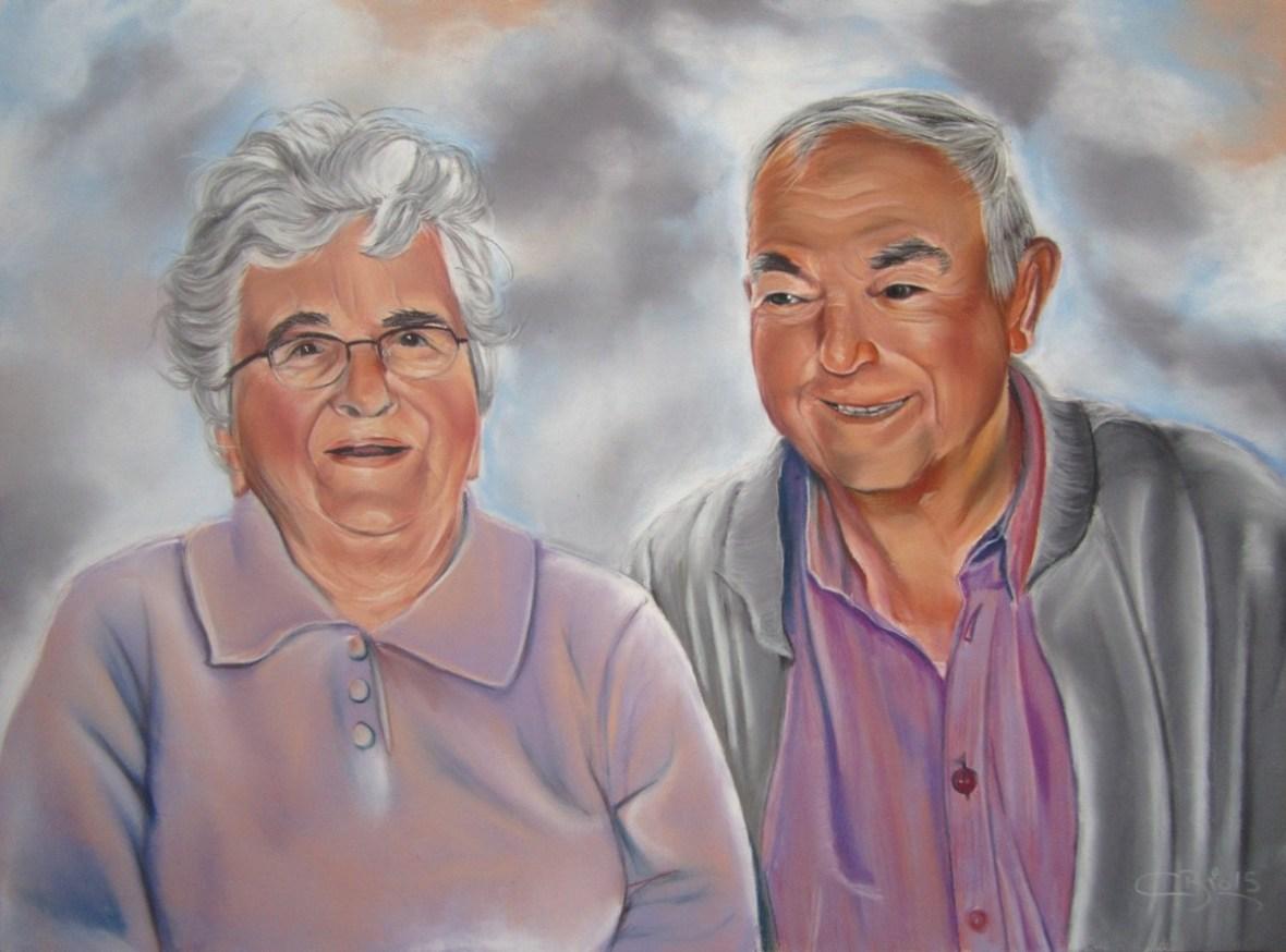 grands-parents pastels secs