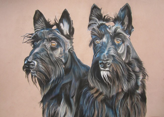 scottish terrier tableau