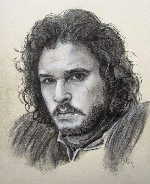 portrait jon snow