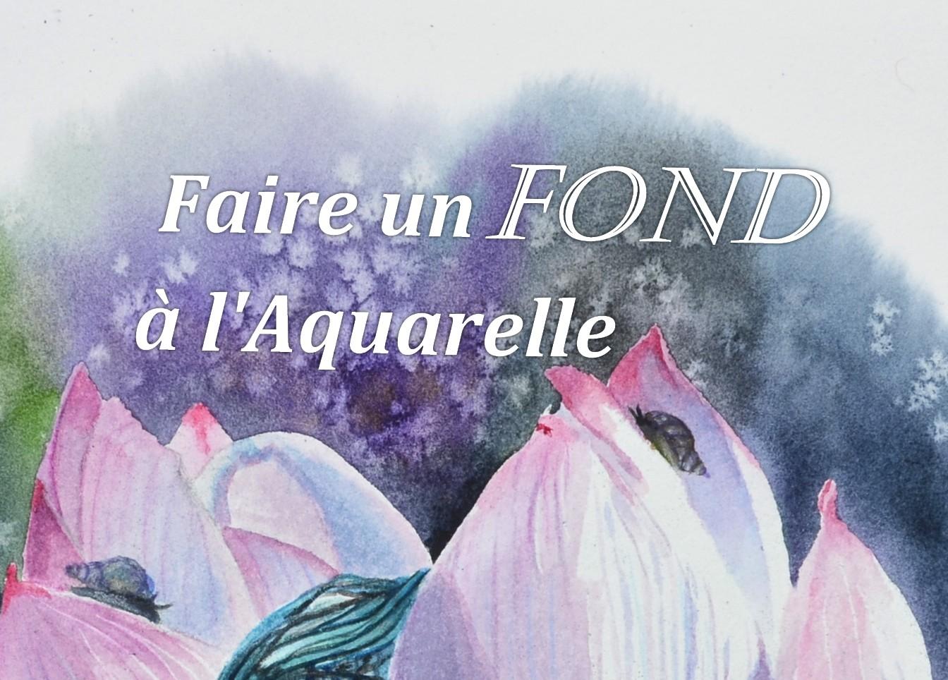 Peindre Un Fond A L Aquarelle Debutants