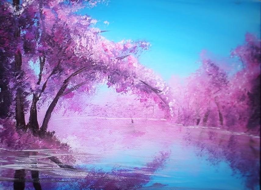Peindre Un Cerisier En Fleurs En 10 Minutes