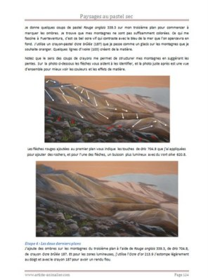 montagnes pastel sec
