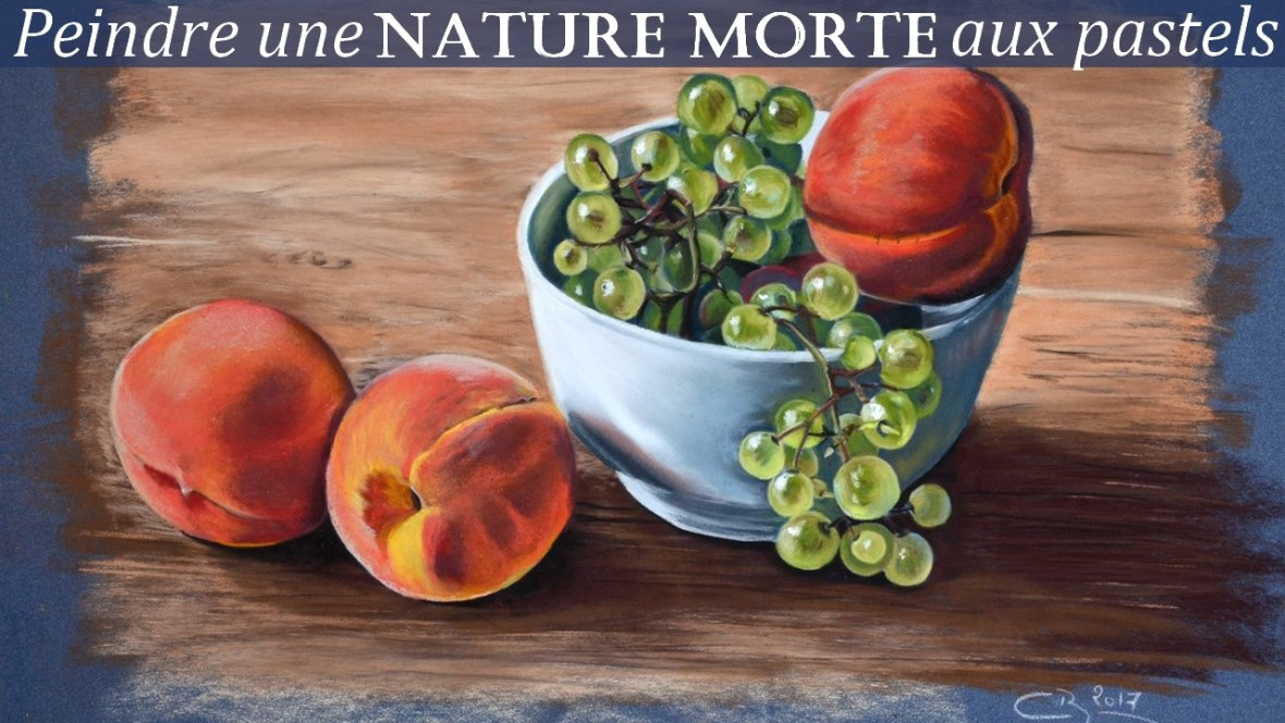 Nature morte aux pastels secs - Dessin de nature morte ...