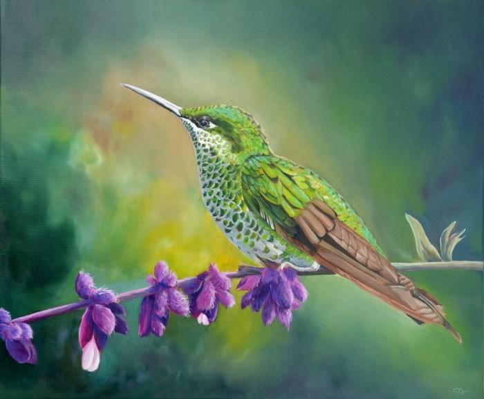 peinture colibri