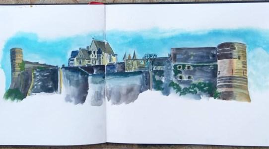 peinture chateau angers
