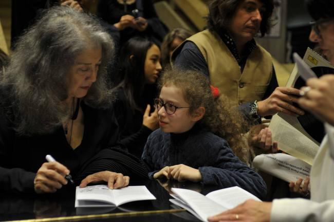 Avec Martha Argerich
