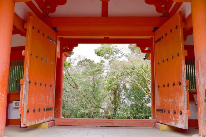 Gates at Kasuga Taisha Shrine.