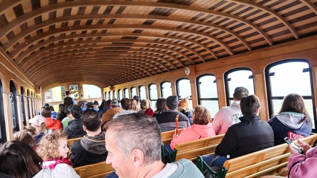 Inside the Cog Railway Train Car