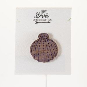 Purple Clam Shell Pin Front