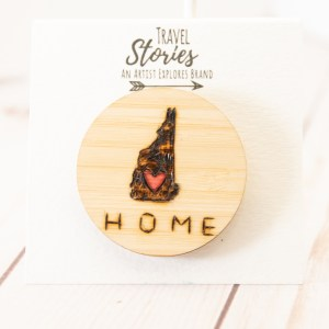 Wood burned New Hampshire with heart and Home