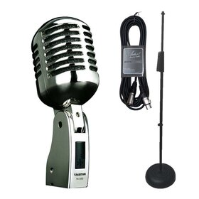 Takstar TA55DPK - Vintage Dynamic Vocal Microphone + Stand and Cable