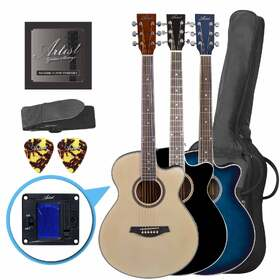Artist LSPS Beginner Acoustic Guitar Pack with Small Body