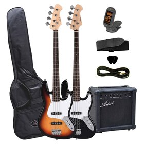 Artist JB2PK Electric Bass Guitar + Amp and Accessories