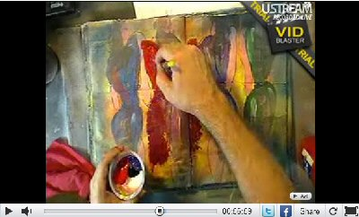 Screen capture from ustream