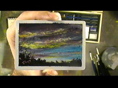 Mini Sunset Acrylic Painting