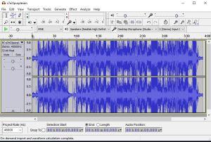 Import audio into Audacity