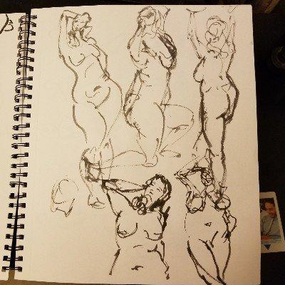 #figuredrawing #lifedrawing #nudeart #inkbrush #brushpen #ilovemybrushpen #i<3brushpens #watercolor #watercolour #pinup #pinupartist #figuredrawing #drawinggirl #sketch #sketchartist #sketching #drawing