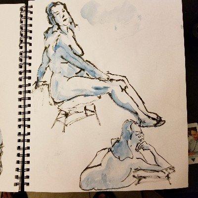 #figuredrawing #lifedrawing #nudeart #inkbrush #brushpen #ilovemybrushpen #i<3brushpens wa #sketch #sketchartist #sketching #drawing #pinup #pinupartist #figuredrawing #drawinggirl