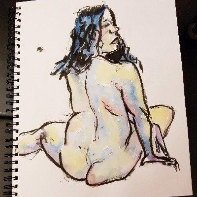 #figuredrawing #lifedrawing #nudeart #inkbrush #brushpen #ilovemybrushpen #i<3brushpens #watercolor #watercolour #sketch #sketchartist #sketching #drawing #pinup #pinupartist #figuredrawing #drawinggirl