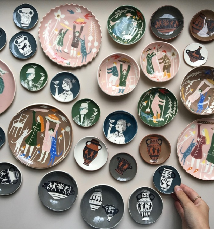 Ceramic bowls by Polly Fern - ArtisticMoods.com