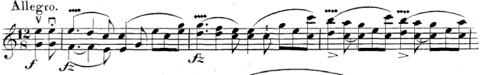 Squiggle of vibrato in Spohr's Duo Op.153