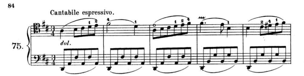 squiggle of vibrato in Kummer's exercise n. 75