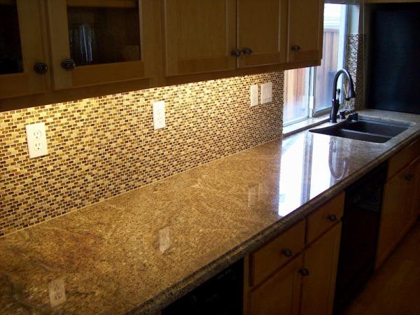 Juparana Tier Kitchen With Full And Tile Backsplash