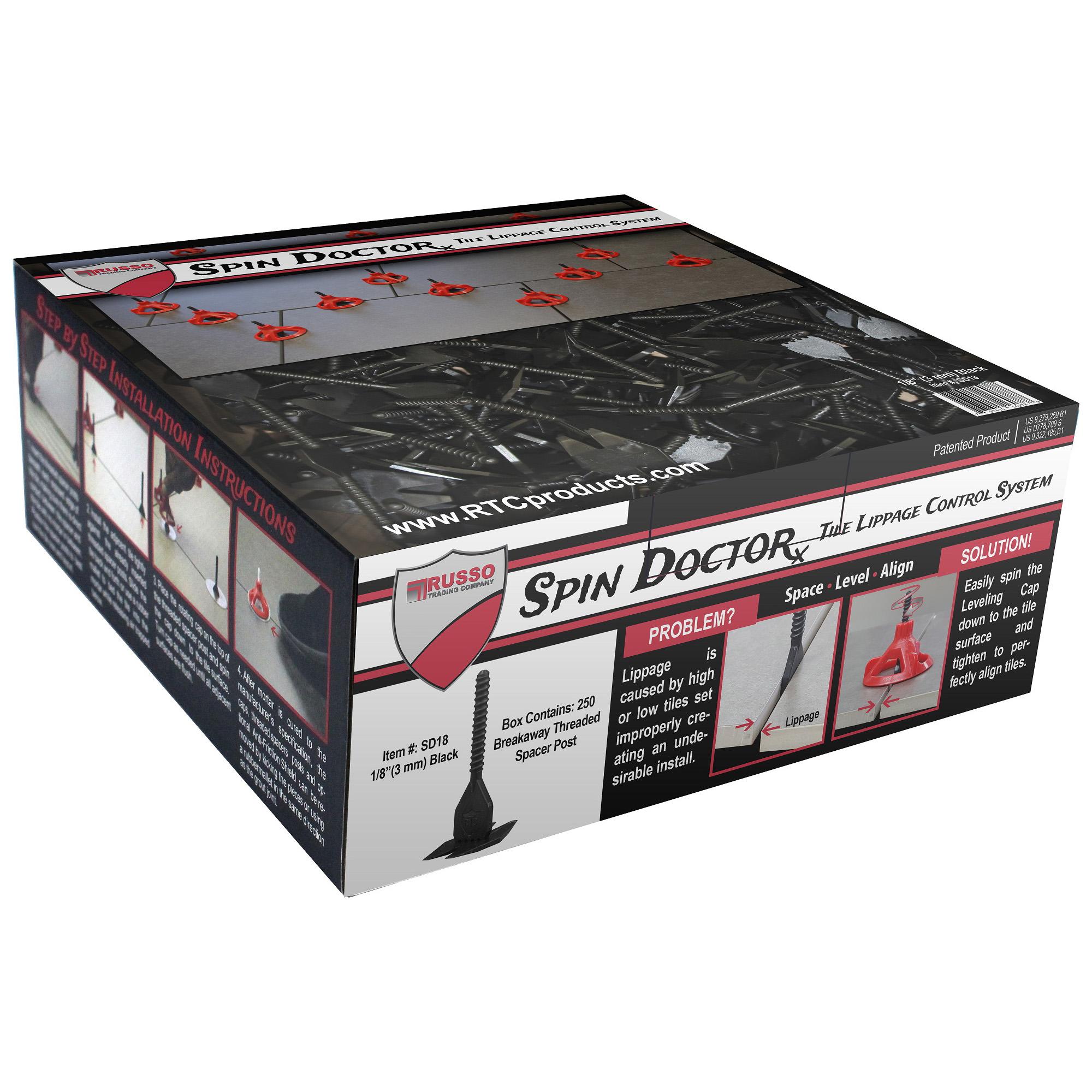 spin doctor tile leveling system 1 8