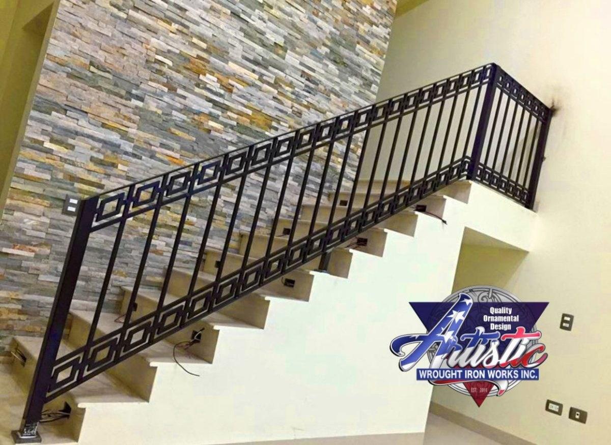Diamond Modern Stair Railing Artistic Wrought Iron Works Inc   Wrought Iron Stair Railing   Italian   Front Porch   French   Mediterranean   Design