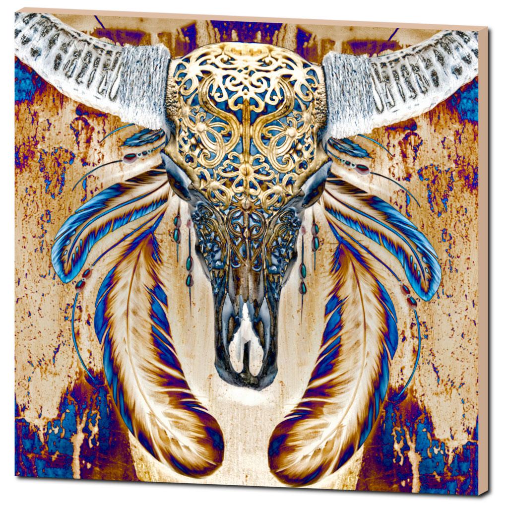 skull-feathers-art-print