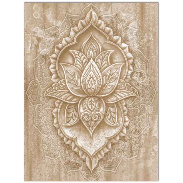 yoga symbols - lotus flower print