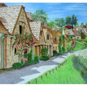 Southern English Village 8″x 10″